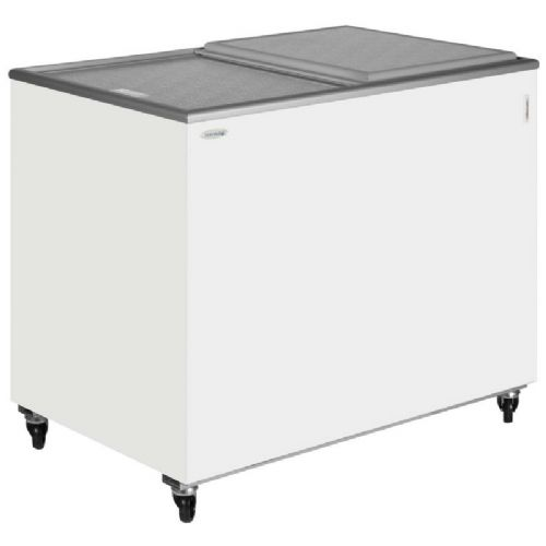 Tefcold IC300SC Sliding Flat Glass Lid Chest Freezer